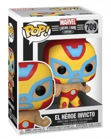 Funko POP Marvel - Lucha Libre - Iron Man El Héroe Invicto caixa