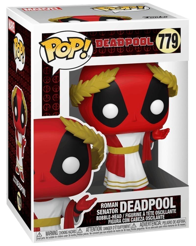 PREORDER! Funko POP Marvel - Deadpool 30th - Roman Senator Deadpool caixa