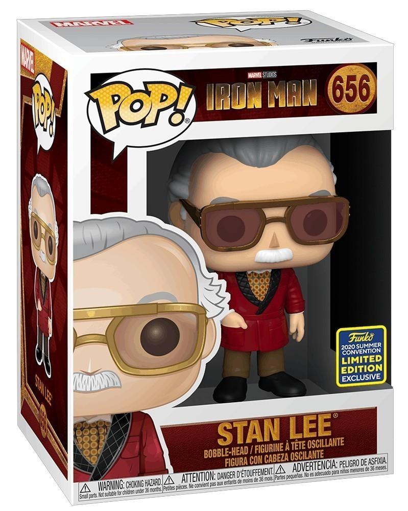Funko POP Marvel Studios - Iron Man - Stan Lee (as Hugh Heffner) caixa