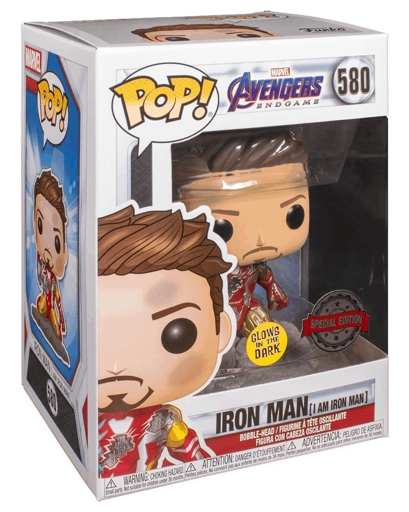 Funko POP Avengers: Endgame - I Am Iron Man (GITD) caixa