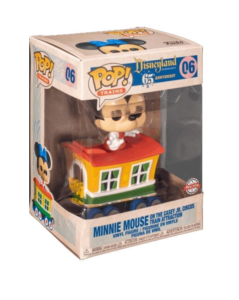 POP Disneyland 65th Anniv - Minnie Mouse on Casey Jr. Circus Train Attraction caixa
