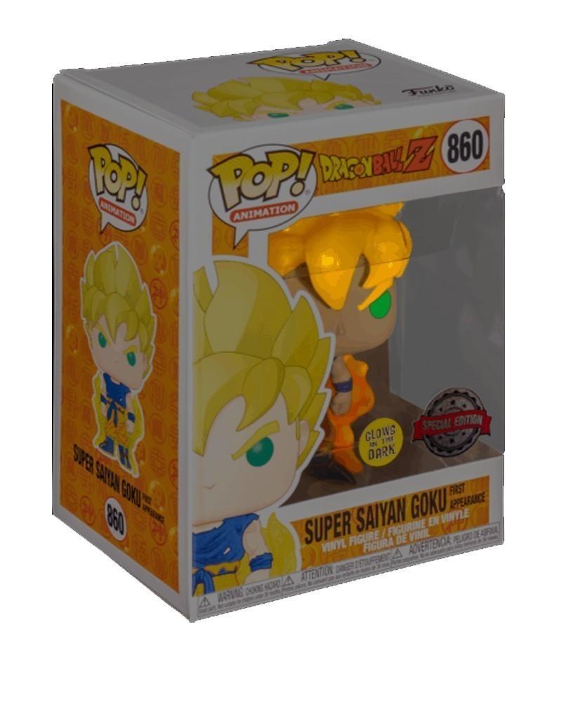 POP Anime - Dragonball Z - Super Saiyan Goku 1st Appearance (GITD) caixa