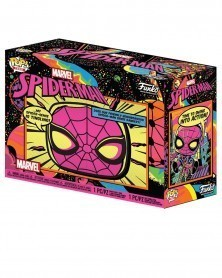 Funko POP Tees Box - Marvel - Spider-Man Black Light caixa