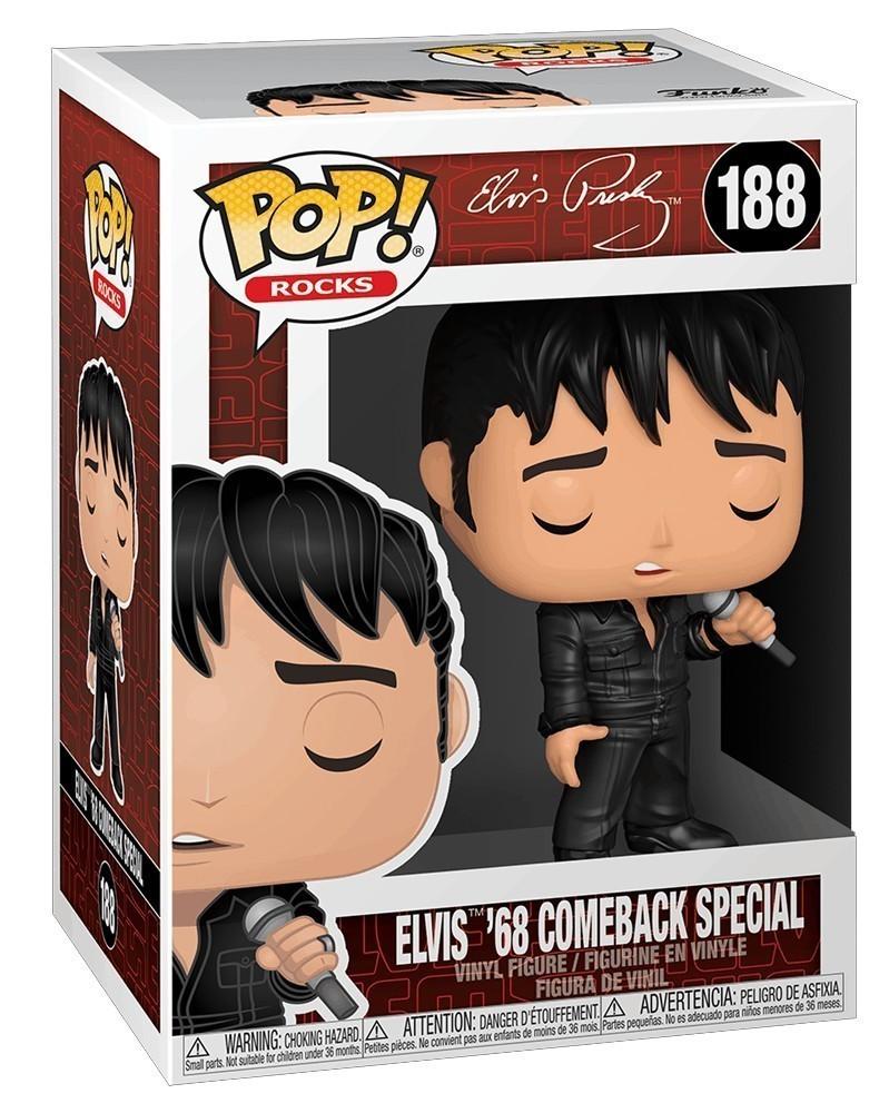 Funko POP Rocks - Elvis Preasley - Elvis '68 Comeback Special caixa