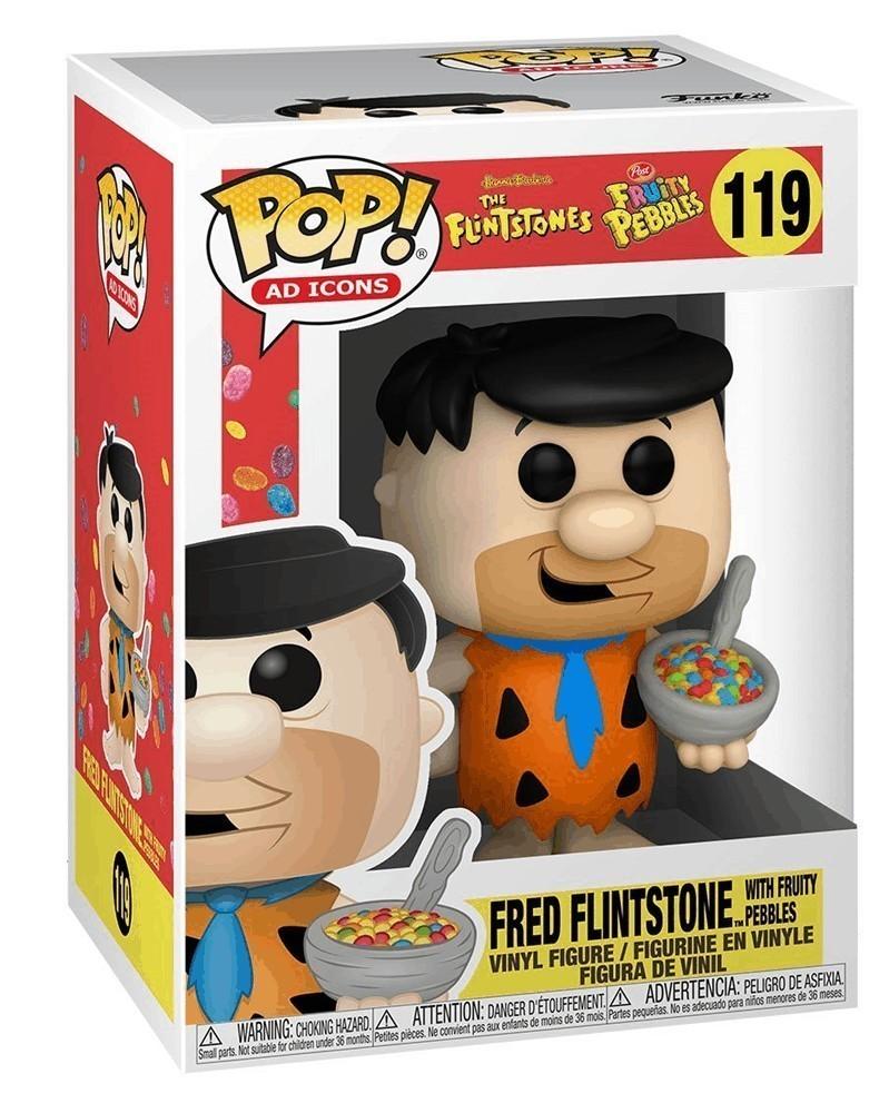 Funko POP Ad Icons - The Flintstones - Fred Flintstone (w/Fruity Pebbles)