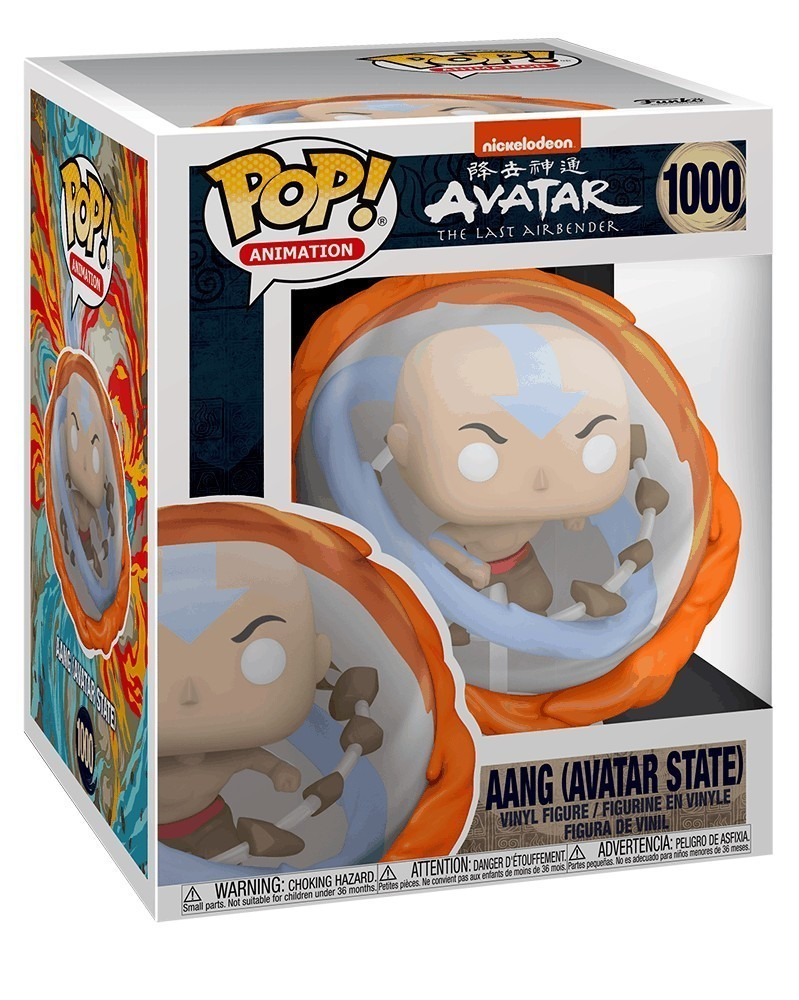 PREORDER! POP Animation - Avatar The Last Airbender - Aang All Elements (Avatar State) caixa
