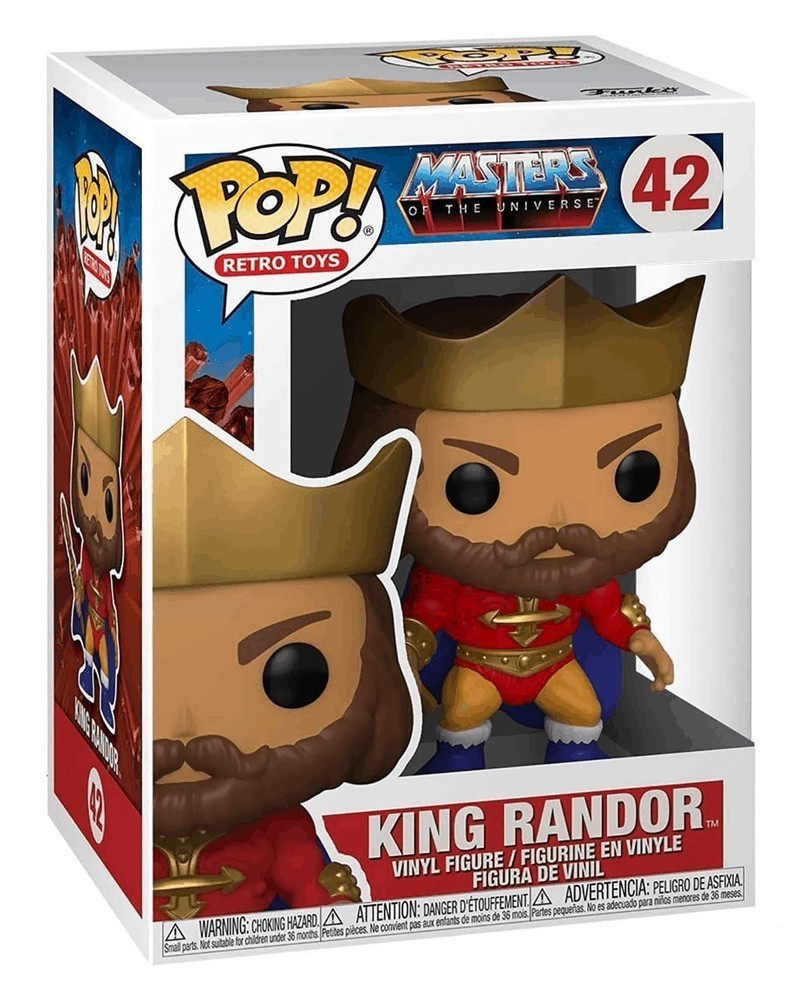Funko POP Retro Toys - Masters of The Universe - King Randor caixa