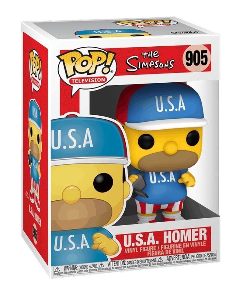 Funko POP TV - The Simpsons - USA Homer caixa