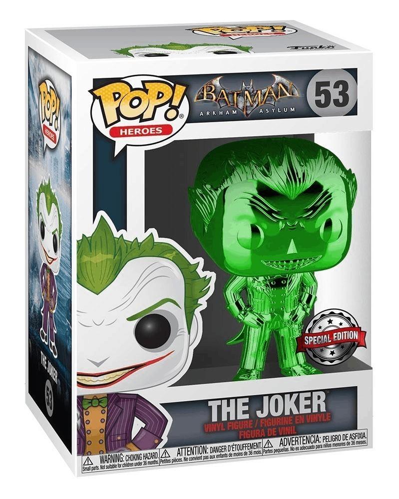 Funko POP DC Heroes - Batman: Arkham Asylum - Joker (Green Chrome) c