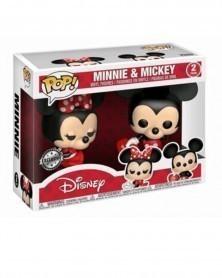 Funko POP Disney Valentine 2-Pack - Minnie & Mickey caixa