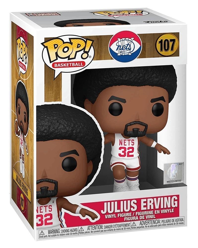 Funko POP NBA Legends - Nets - Julius Erving (Home) caixa