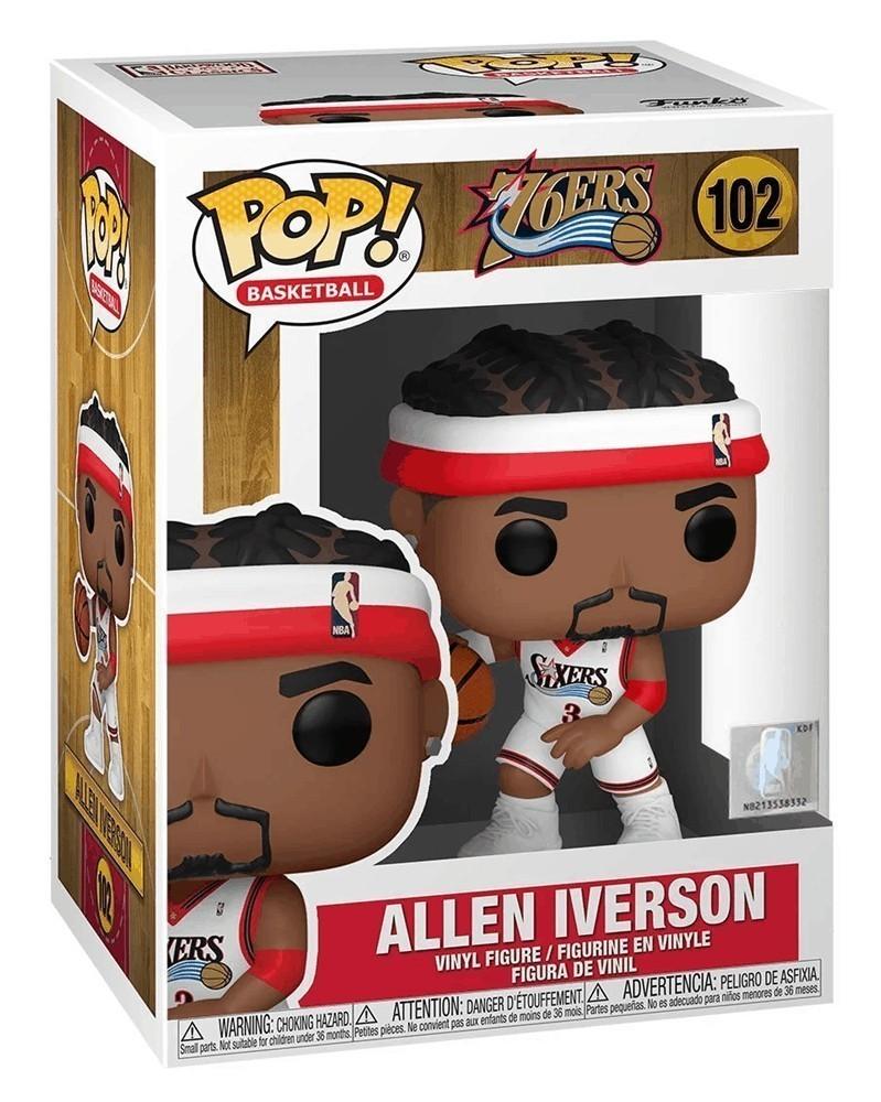 Funko POP NBA Legends - Sixers - Allen Iverson (Home) caixa