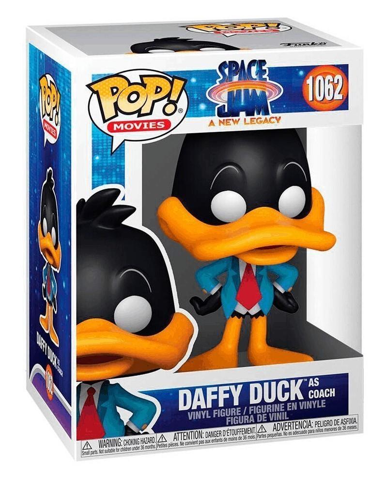Funko POP Movies - Space Jam 2 - Daffy Duck (as Coach) caixa