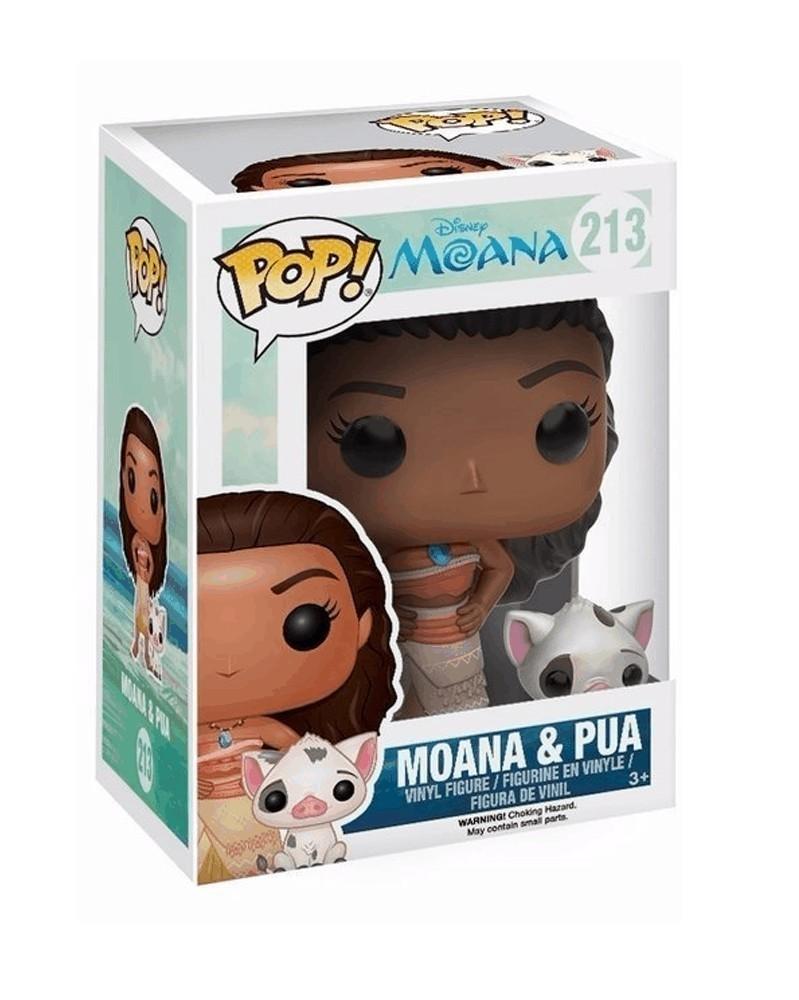 Funko POP Disney - Moana - Moana & Pua caixa