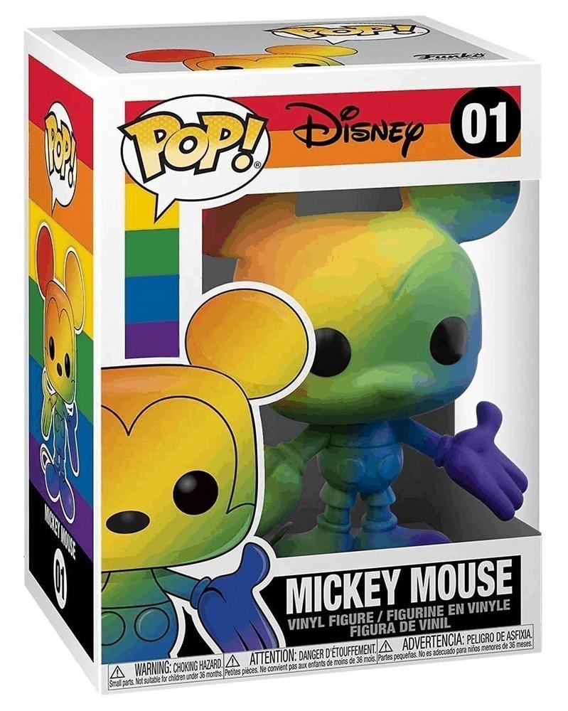 Funko POP Disney - Mickey Mouse (Rainbow) caixa