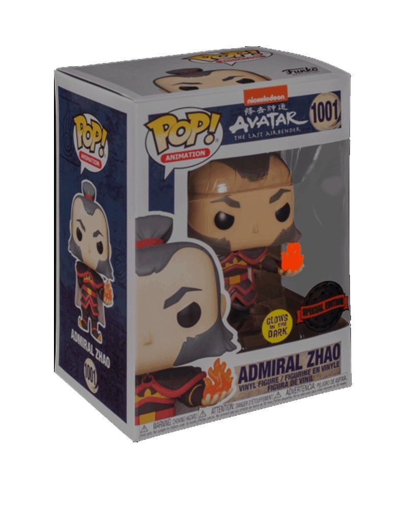 Funko POP Animation - Avatar The Last Airbender - Admiral Zhao w/Fireball (GITD) caixa