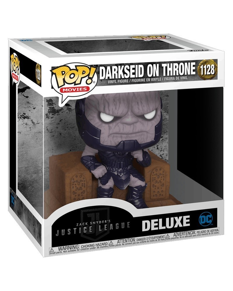 POP DC Movies - Zack Snyder's Justice League - Darkseid on Throne (Deluxe) caixa