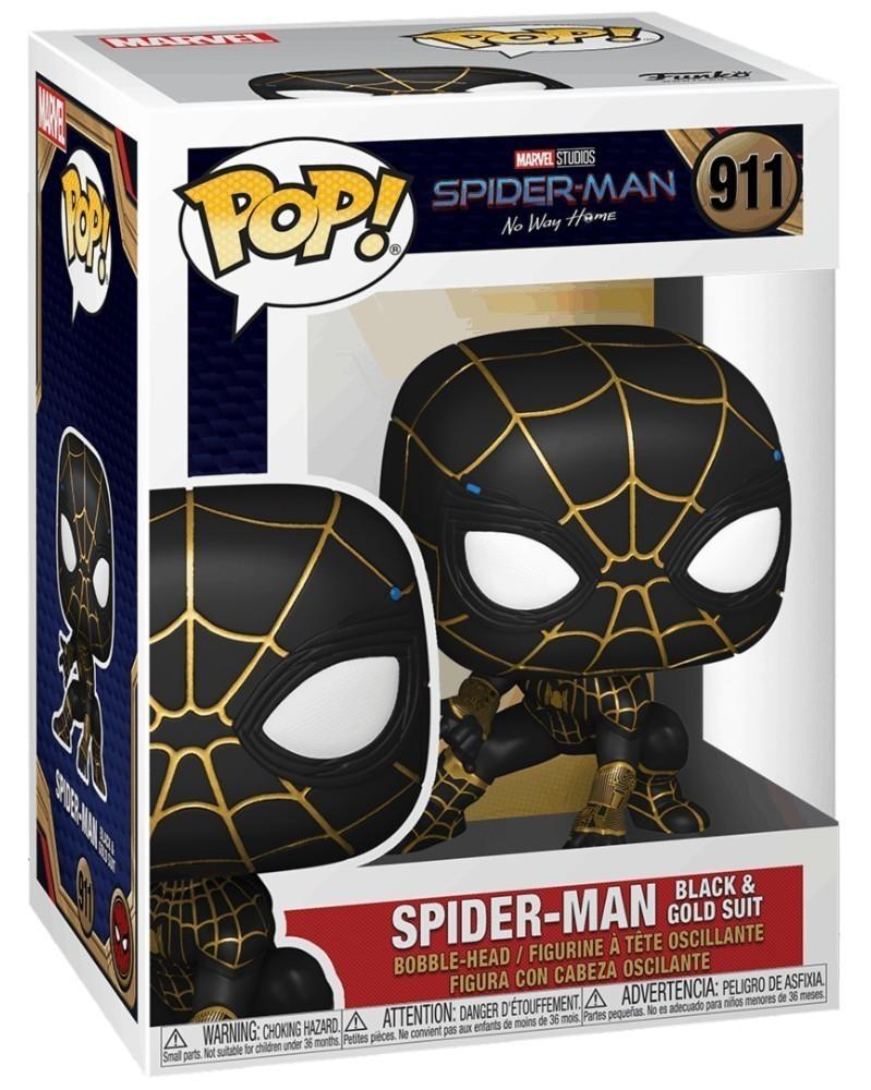 POP Marvel - Spider-Man: No Way Home - Spider-Man (Black & Gold Suit) caixa