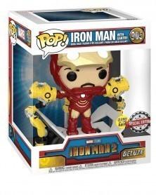 Funko POP Marvel - Iron Man 2 - Iron Man w/Gantry (GITD) caixa