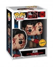 Funko POP Movies - Evil Dead 40th Anniversary - Ash (CHASE!) caixa