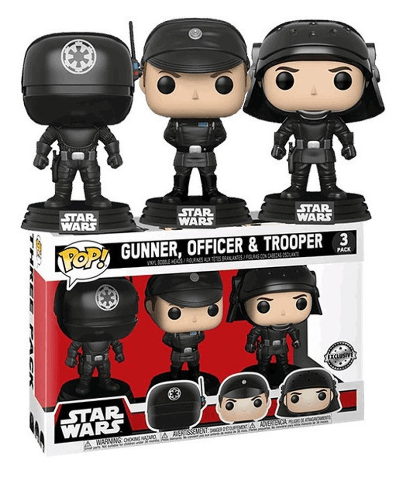 POP Star Wars - 3-Pack - Death Star - Gunner, Officer, Trooper, caixa