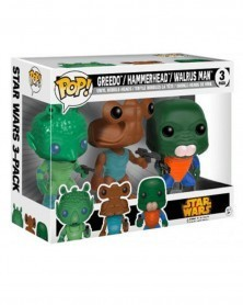 POP Star Wars - 3-Pack - Greedo, Hammerhead, Walrus Man, caixa