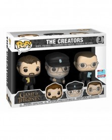 POP Game of Thrones 3-Pack - The Creators (with George R Martin), caixa