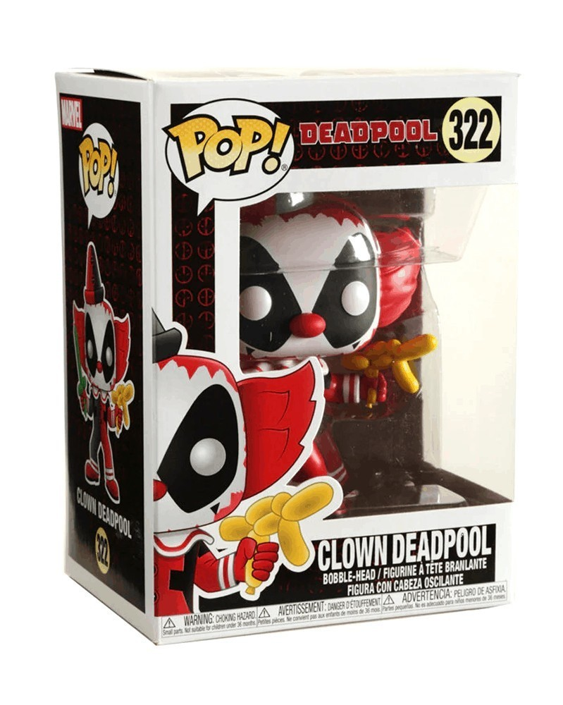 Funko POP Marvel - Deadpool Clown, caixa