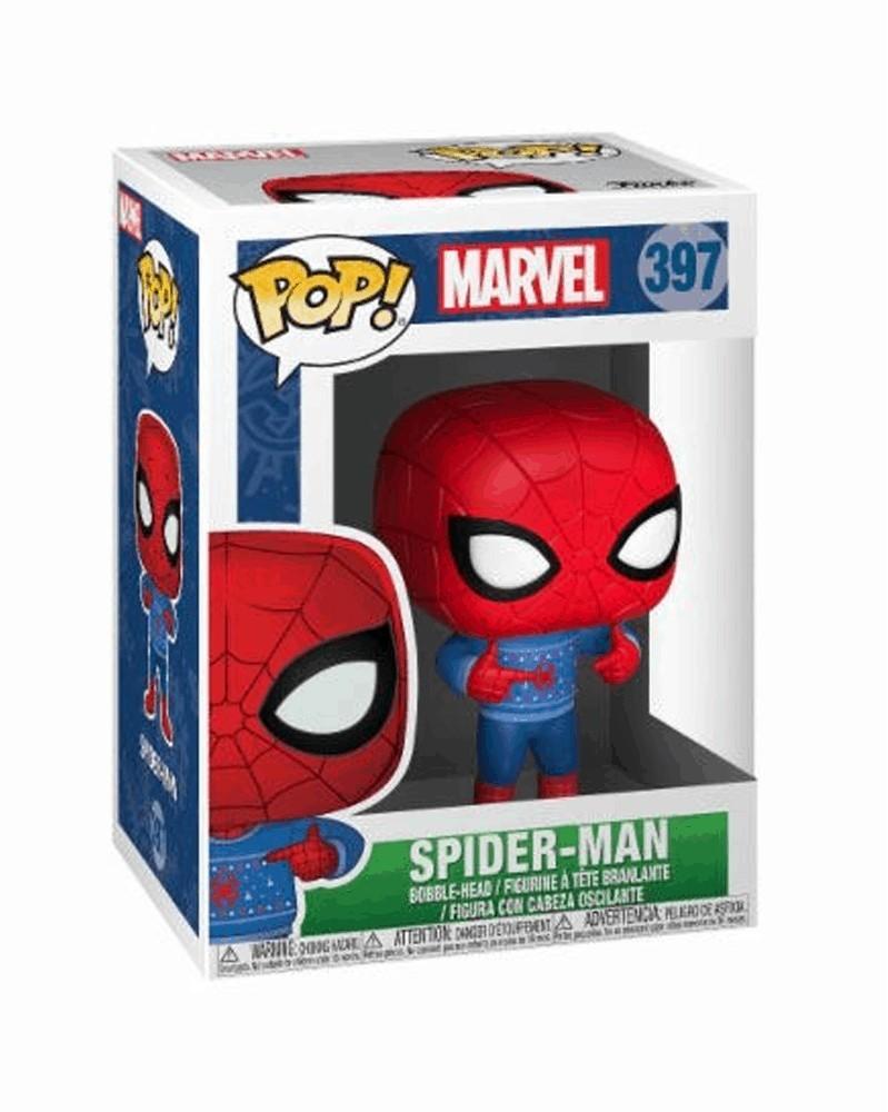 Funko POP Marvel Holiday - Spider-Man (Ugly Sweater), caixa