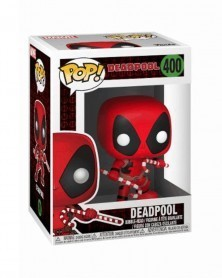 Funko POP Marvel Holiday - Deadpool (Candy Canes), caixa