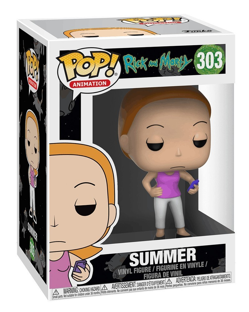 Funko POP Animation - Rick and Morty - Summer, caixa
