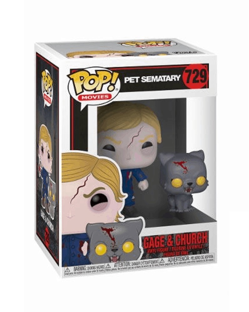 POP Movies - Pet Sematary - Undead Gage and Church, caixa