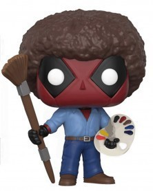 Funko POP Marvel - Deadpool (as Bob Ross)