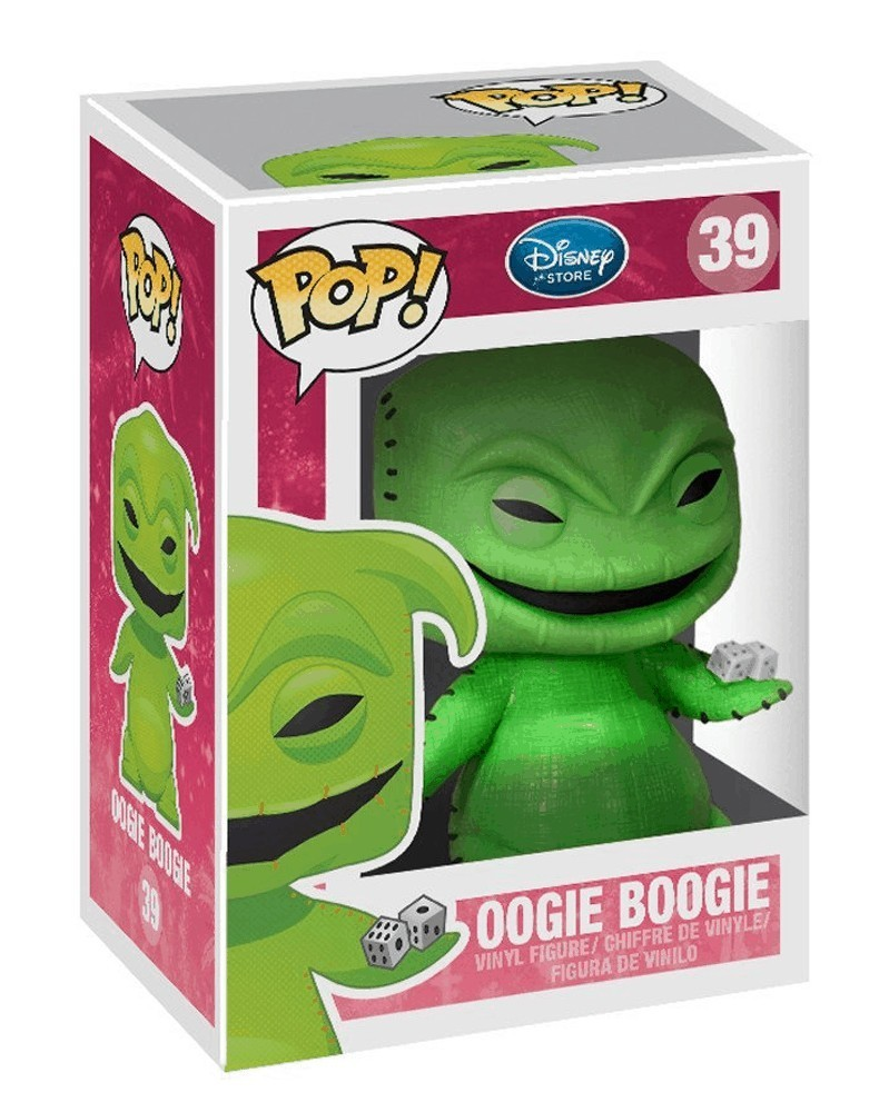 Funko POP Nightmare Before Christmas - Oogie Boogie, caixa