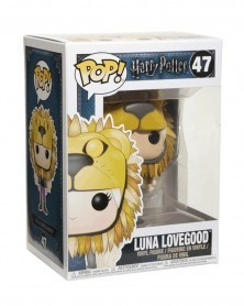 Funko POP Harry Potter - Luna Lovegood (with Lion Hat), caixa