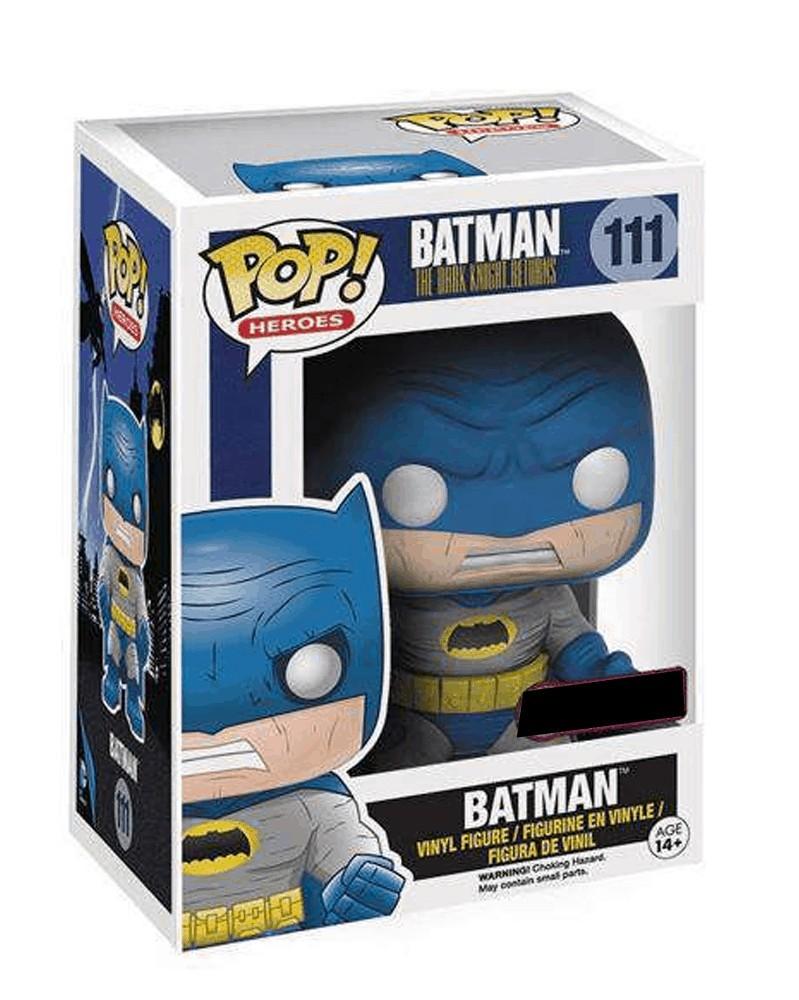 POP Heroes - Dark Knight Returns - Batman (Blue), caixa