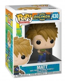 Funko POP Animation - Digimon - Matt, caixa