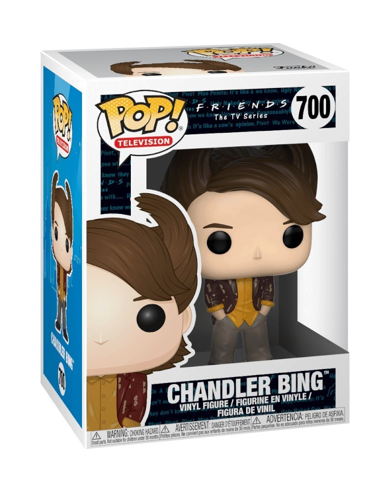 Funko POP Television - Friends - Chandler Bing (80's Hair), caixa