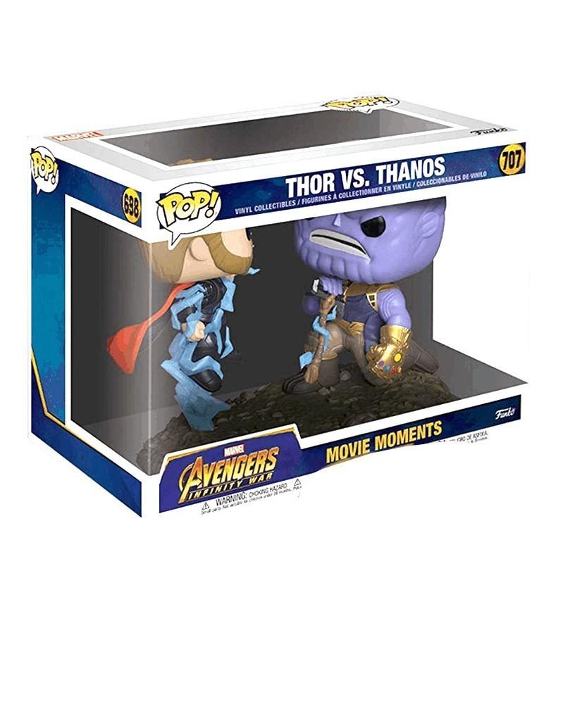 Funko POP Marvel - Movie Moments - Thor vs. Thanos, caixa