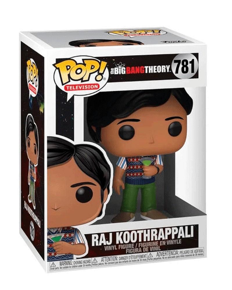 Funko POP Television - The Big Bang Theory  - Raj Koothrappali, caixa