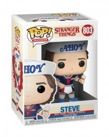Funko POP TV- Stranger Things - Steve w/Hat and Ice Cream, caixa