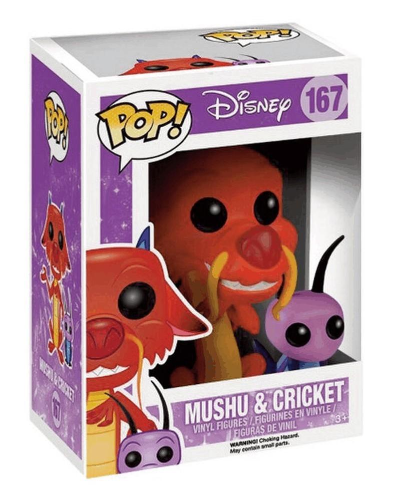 Funko POP Disney - Mulan - Mushu & Cricket, caixa