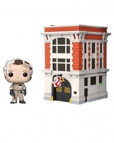 Funko POP Movies - Ghostbusters - Dr.Peter Venkman with Firehouse