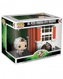 Funko POP Movies - Ghostbusters - Dr.Peter Venkman with Firehouse, caixa
