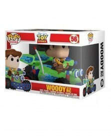 Funko POP Rides - Disney - Toy Story 4 - Woody with RC, caixa danificada