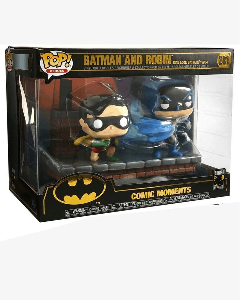 POP Comic Moment - Batman: 80th Anniversary - New Look Batman & Robin 1964, caixa