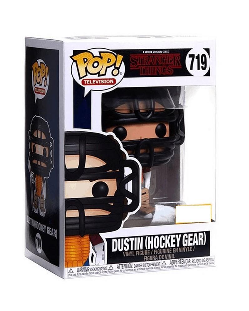 Funko POP TV - Stranger Things - Dustin (Hockey Gear), caixa