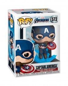POP Avengers: Endgame - Captain America (w/broken shield), caixa