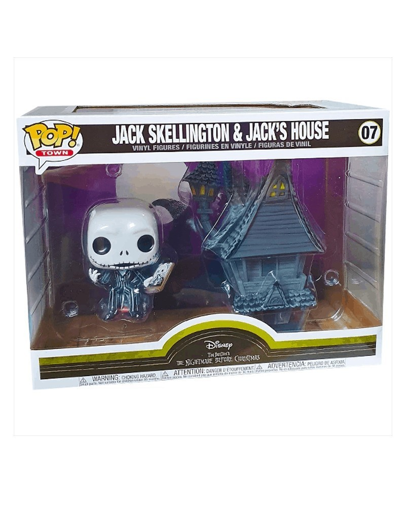 POP Disney - Nightmare Before Christmas - Jack Skellington & Jack'sHouse, caixa