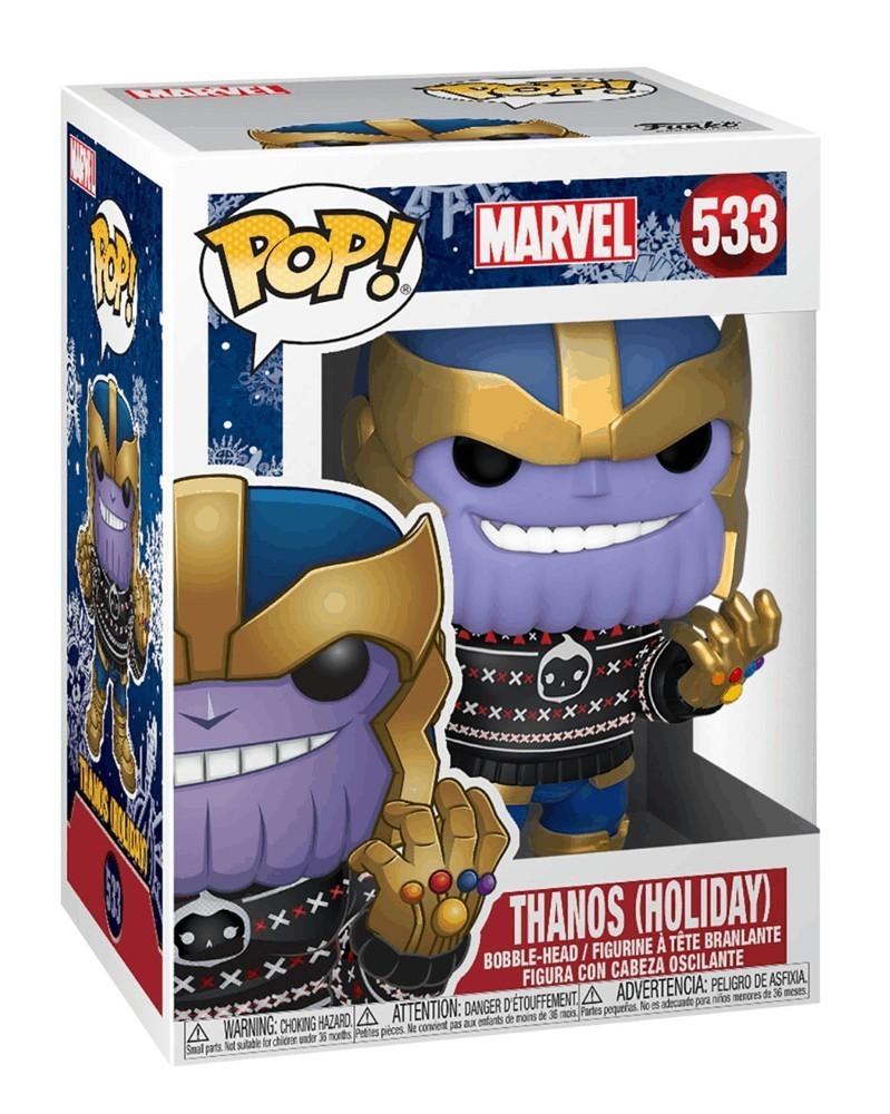 Funko POP Marvel - Thanos (Holiday), caixa